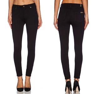 NWOT 7FAM Black Skinny Double Knit Jeans/Leggings